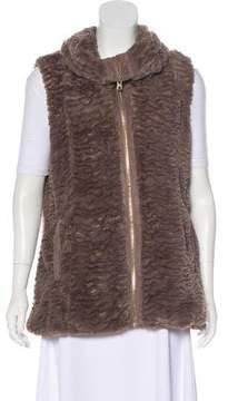 Andrew Marc Faux Fur Zip-Up Vest
