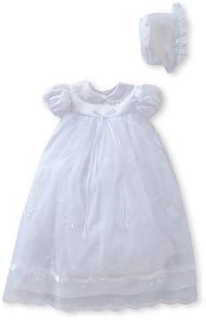 Edgehill Collection Ribbon Baby Girls Newborn-9 Months Christening Dress