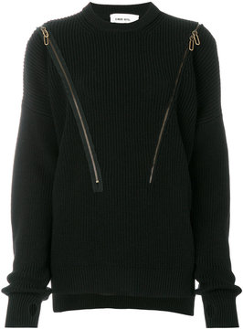 Circus Hotel asymmetric zip up jumper