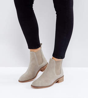 Asos ABSOLUTE Wide Fit Suede Chelsea Ankle Boots