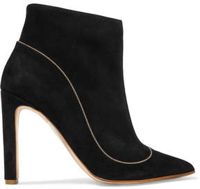 Rupert Sanderson Armada Chain-trimmed Suede Ankle Boots - Black