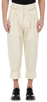 J.W.Anderson MEN'S PLEATED-FRONT POPLIN TROUSERS