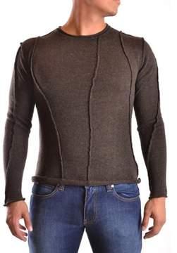 Isabel Benenato Men's Brown Wool Sweater.