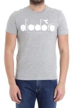 Diadora Men's Grey Cotton T-shirt.