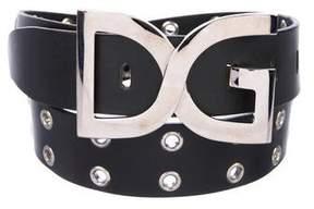 Dolce & Gabbana Grommet Leather Belt