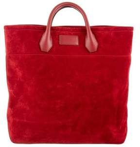 Tom Ford Suede Leather-Trimmed Tote