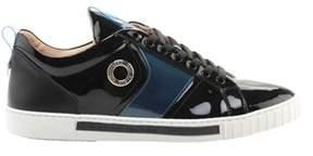 Alessandro Dell'Acqua Men's Range Polished Leather Sneaker Blue Leather Size.