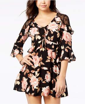 American Rag Juniors' Floral-Print Ruffled Dress, Created for Macy's