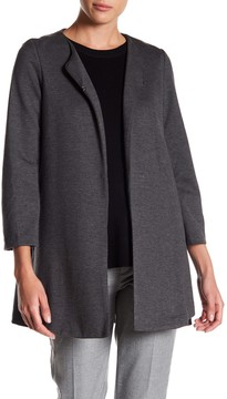 Adrienne Vittadini Collarless Side Pocket Jacket