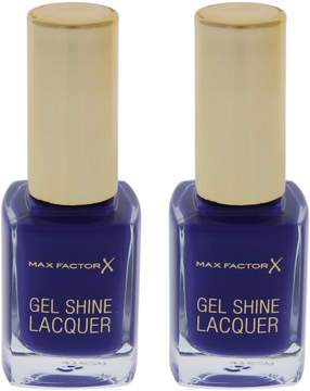 Max Factor Lacquered Violet Gel Shine Nail Polish - Set of Two