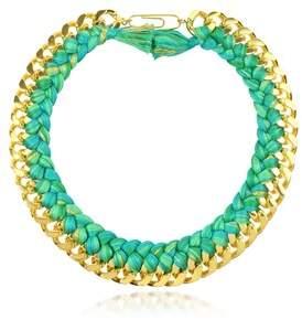 Aurelie Bidermann Women's Green Metal Necklace.