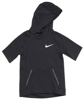 Boy's Nike Dry Hyper Fleece Short Sleeve Hoodie