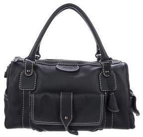 Tod's Contrast-Stitched Leather Shoulder Bag