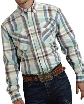 Roper Cotton Plaid Shirt - Button Front, Long Sleeve (For Men and Big Men)