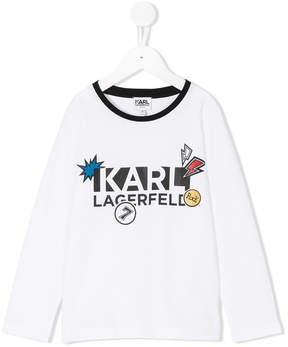 Karl Lagerfeld logo long sleeve T-shirt