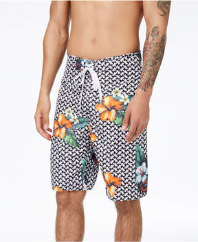 Lrg Men's Descendent Floral-Print Swim Trunks