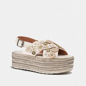 Coach New YorkCoach Espadrille Sandal With Tea Rose