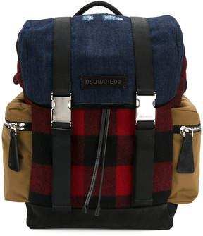 DSQUARED2 military buckle backpack
