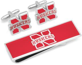 Ice University of Nebraska Cufflinks and Money Clip Gift Set
