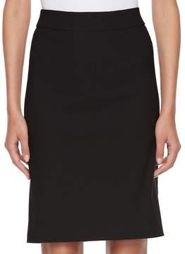 Elle Women's ElleTM Pull-On Black Pencil Skirt