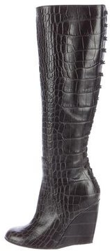 Jerome C. Rousseau Embossed Knee-High Boots