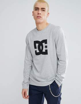 DC Long Sleeve T-Shirt With Star Logo in Gray