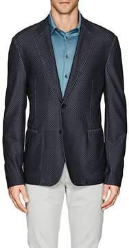 Giorgio Armani Men's Herringbone Mesh-Knit Two-Button Sportcoat
