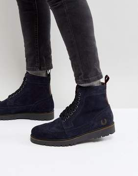 Fred Perry Northgate Suede Boots in Navy