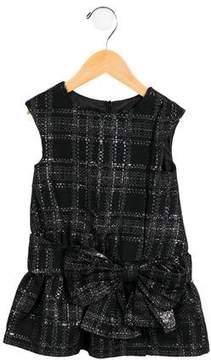 Lili Gaufrette Girls' Tweed Metallic Dress