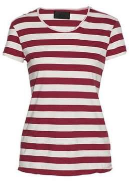 RtA Distressed Striped Cotton T-Shirt