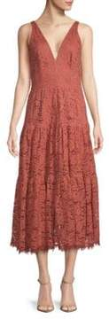 Dress the Population Madelyn Plunging Lace Midi Dress