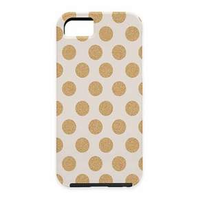 Deny Designs Allyson Johnson Gold Polka Dot Case for iPhone® 5 and 5S