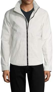 James Perse Men's Linen Coated Full-Zip Jacket