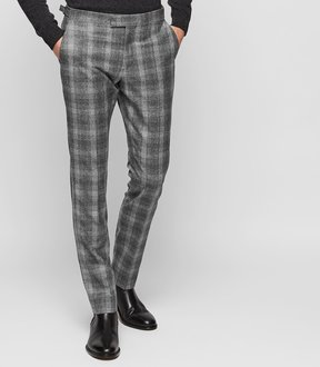 Reiss Russell Slim Tailored Check Trousers