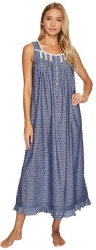 Eileen West Chambray Clip Dot Ballet Nightgown Women's Pajama
