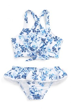 Seafolly Toddler Girl's Forget Me Not Tankini Two-Piece Swimsuit