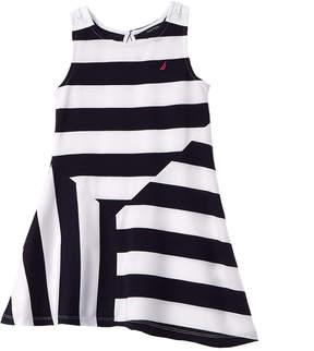 Nautica Girls' Stripe Jersey Dress