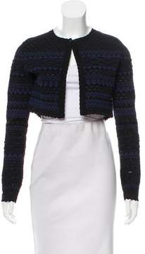 Alaia Cropped Patterned Cardigan