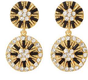Amrita Singh Goldtone & Black Lycnorinda Earrings