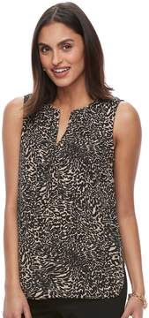 Dana Buchman Women's Crepe Sleeveless Blouse