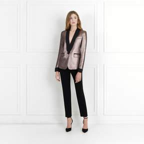 Rachel Zoe Toni Mauve Metallic Jacquard Blazer