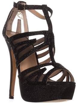 Thalia Sodi Ts35 Flairr Platform Dress Sandals, Black.