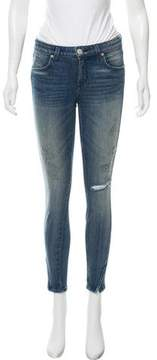 Amo Twist Zip Mid-Rise Jeans
