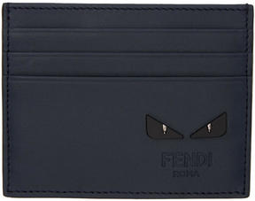 Fendi Blue Bag Bugs Card Holder