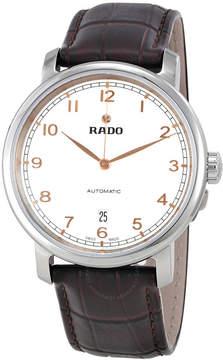 Rado Diamaster XL White Dial Leather Automatic Men's Watch