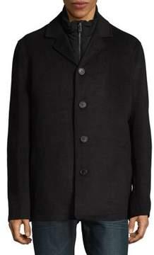 Hart Schaffner Marx 3-in-1 Triple Play Wool-Blend Coat with Vest