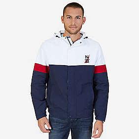 Nautica Hooded Colorblock Nylon Jacket