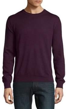 Black & Brown Black Brown Merino Wool Crewneck Sweater