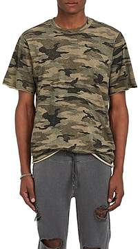 NSF Men's Distressed Camouflage Cotton T-Shirt