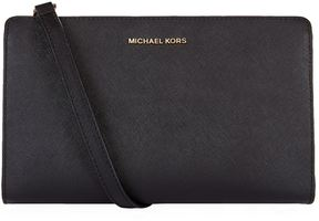 Michael Kors Large Jet Set Travel Clutch Bag - BLACK - STYLE